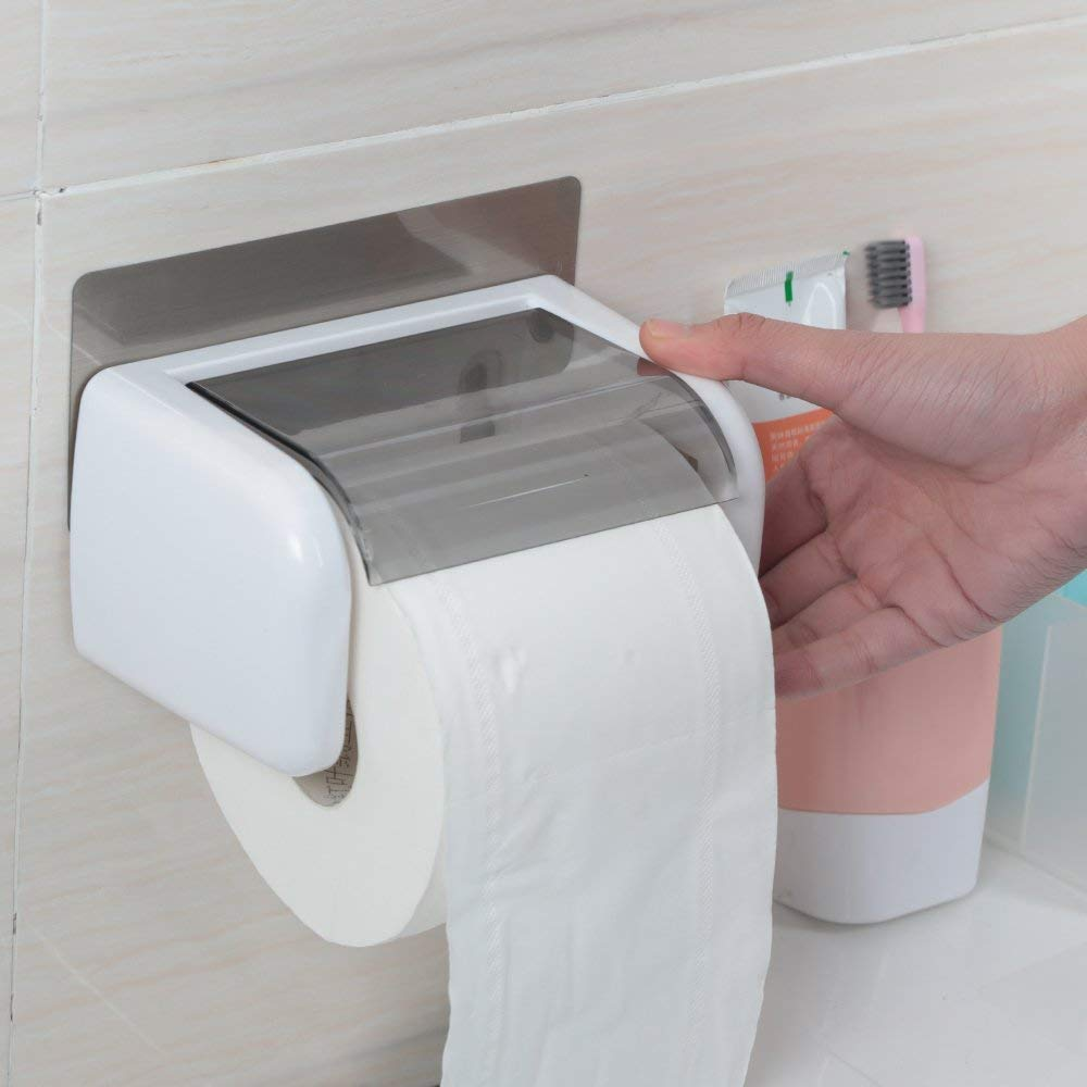 ZHAS Toilet paper box toilet paper tray drawer paper towel rack toilet paper tray waterproof creative roll paper rack from the punch Toilet Paper Holders