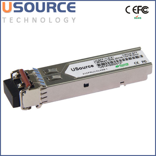 Price competitive Huawei Compatible WDM 1.25G Tx1550 Rx1310nm 20km mini GBIC SFP singlemode optical transceiver module