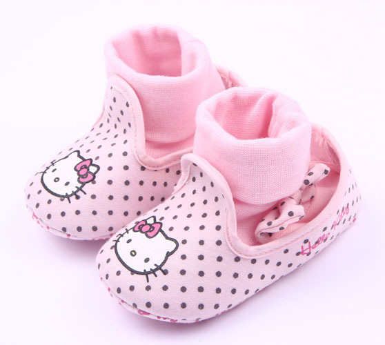 promo codes official store on wholesale Buy 0-2 year old girl baby first walk shoe Hello Kitty style ...