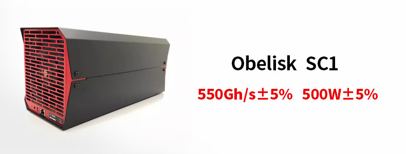 Obelisk Sc1 Blake2b And Blake2b-sia Algorithms 550gh/s 500w Sc Scc Asic  Bitcoin Mining - Buy Bitcoin Mining,Obelisk Sc1,Obelisk Sc1 Bitcoin Mining