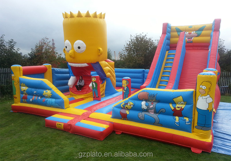 Advertising Giant Inflatable Princess Bouncy Castle Slide
