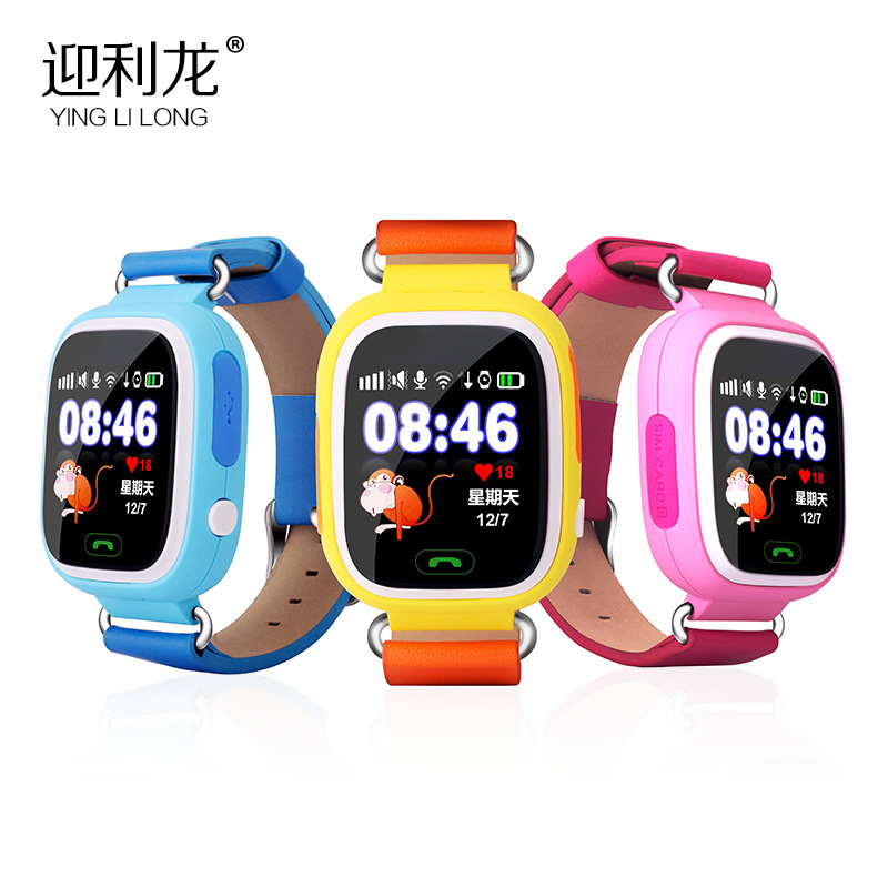 Colorful  Touch Screen Q90 Q80 Q50 Smart Watch SOS Call Location Finder Locator