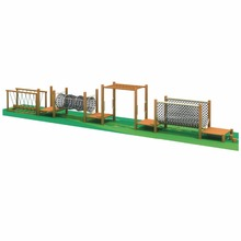 HLB-7126C Kids Wooden Playground Equipment Children Physical Fitness Training Obstacle Course