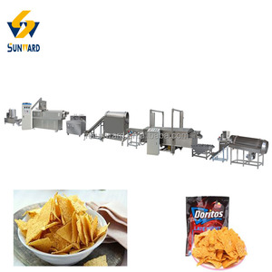 Full Automatic Nacho Tortilla chips Doritos Corn Chips Making Machine Processing Line