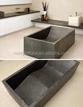 Black limestone bathtub buy limestone bathtub sitting for Limestone tub