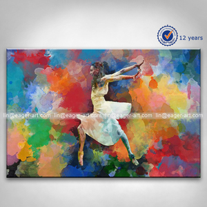 New Designs Hand Painted Canvas Impressionist Ballet Dancer Oil Paintings