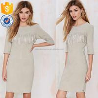 New arrivals quality elegent panel design raw edges women fashion clothes for wholesale