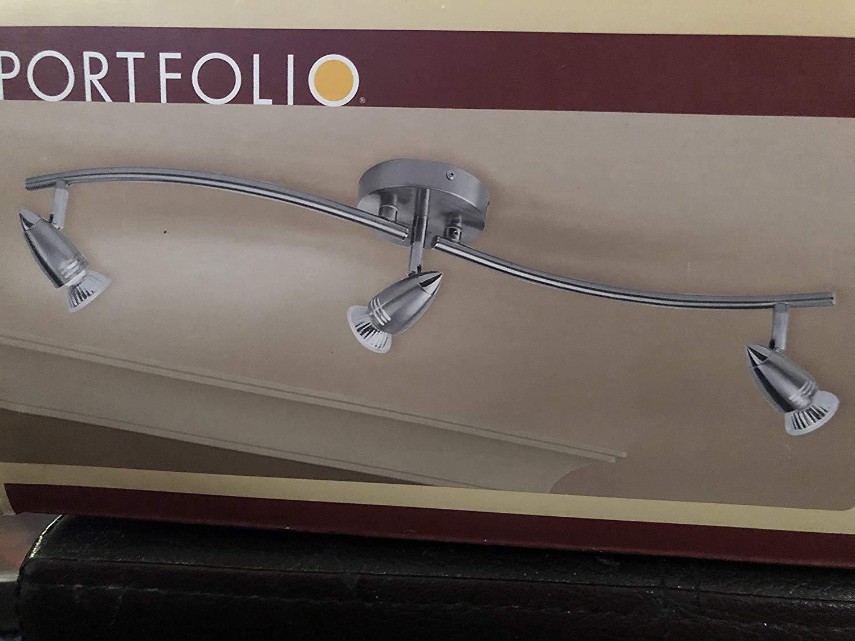 Portfolio 3-Light Chrome Contemporary Track Lighting 17808-001