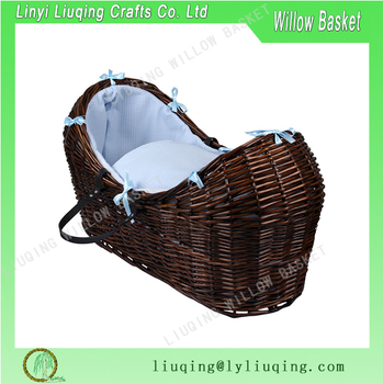 dark brown cheap hand weaving wicker baby pram basket. Black Bedroom Furniture Sets. Home Design Ideas