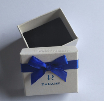 Small Jewelry Ring Box With Silk Ribbon Bow Tie Buy Small Jewelry