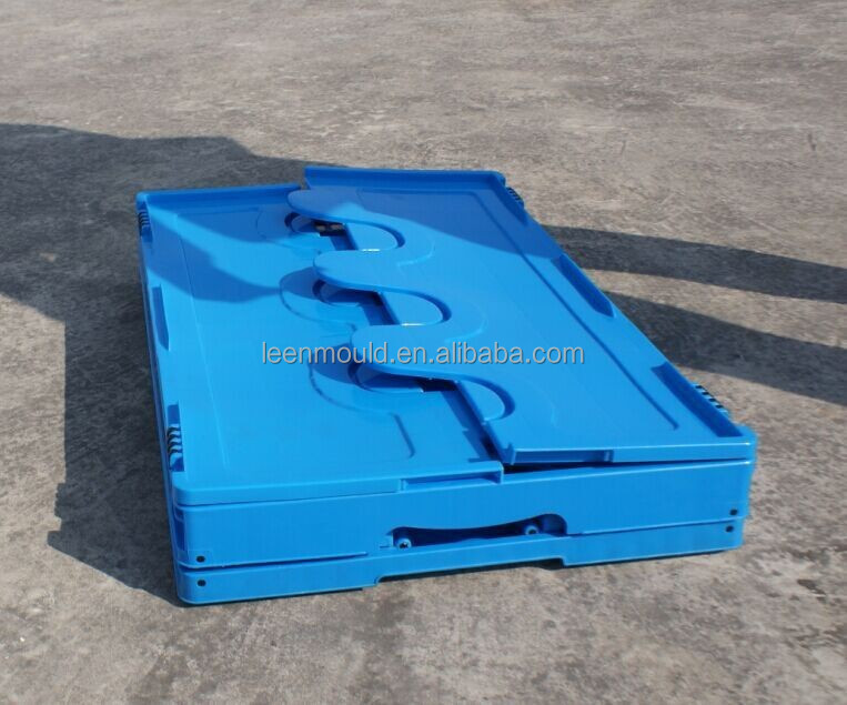 Taizhou Plastic Foldable Close Collapsing Container,Sale Folding Food Crate,Folding Container With Lid