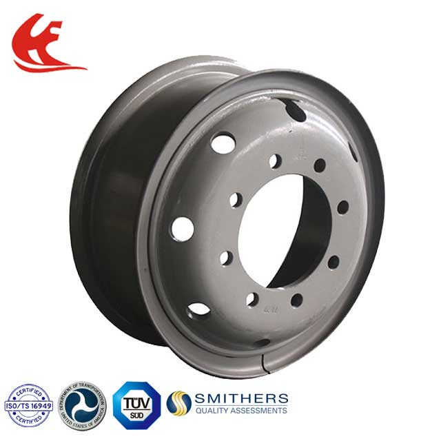 9.00-20 TS16949 silver tube steel truck wheel rim for trailer