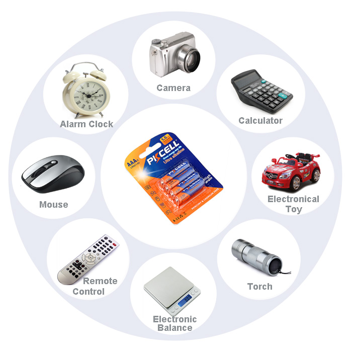 24Pcs 6card PKCELL Alkaline Battery Dry Batteries LR03 1.5V AAA ... 8d677f235dcc