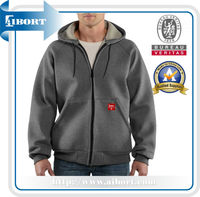 JHDM-682-2 mens carbon thick warm fleece hoodies