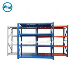 1500*500*2000mm / 500 kg per layer P-Beam Butterfly Hole and bolt combination Four-Shelves Steel Storage Rack Shelf