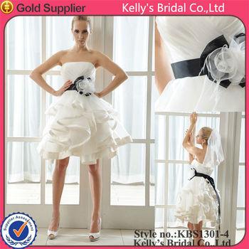 Short Organza Simple Bride Wedding Dress - Buy Simple Bride Wedding ...