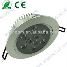 High Power AC85-265V LED downlight 9*1W, Open hole 125mm