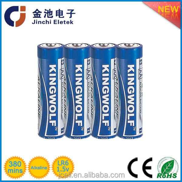 2016 hot sale powerful receive OEM alkaline battery lr6 aa 1.5 v