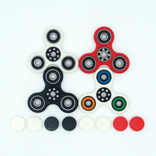 Colorful Tri-Spinner Fidget Toy Plastic EDC Hand Spinner For Autism and ADHD Rotation Time Long Anti Stress Toys