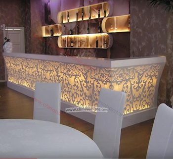 Customized Commercial Acrylic Solid Surface Modern Led Bar Counter ...