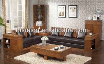 Relaxing Living Room Solid Wood Sofa Set Southeast Asian Comfortable  Furniture