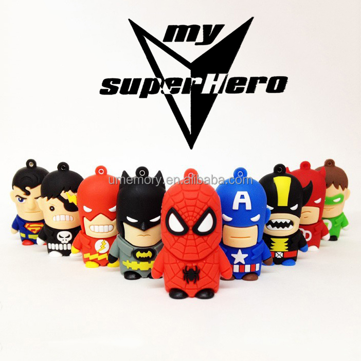 2017 top quality cartoon 1gb usb flash drive