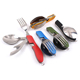 4 in 1 Portable Folding Knife Fork Spoon Combined Multifunctional Camping Flatware Set Outdoor Traveling Tableware for Picnic