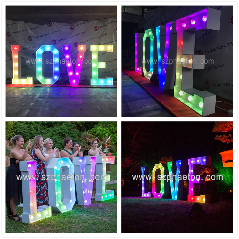 High quality free standing wedding letters romantic light up wedding letters