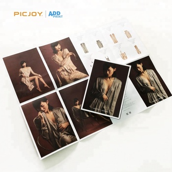 High quality 16 pages French folding pamphlet brochure offset printing for sexy lingerie printing in shanghai