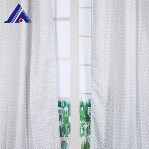 Customized 100% Polyester Anti Dust Hall American Jacquard Window Cotton Curtain