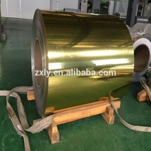 Luxury reflective mirror aluminum sheet coil in gold/rose pink color 3000 series