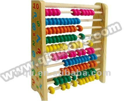 Wooden Colorful Counting Frame Abacus Educational Children Toys