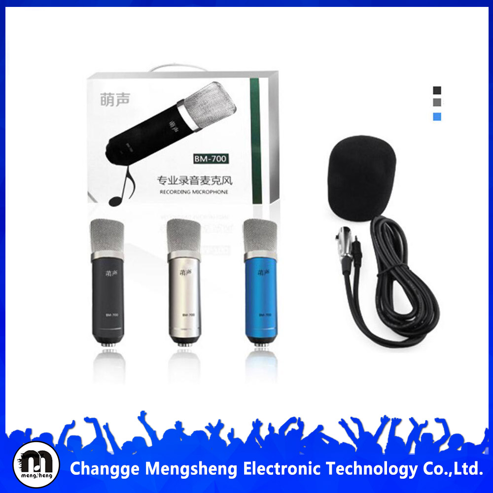 China Manufacturer BM700 Studio Microphone for Conference Recording and Singing