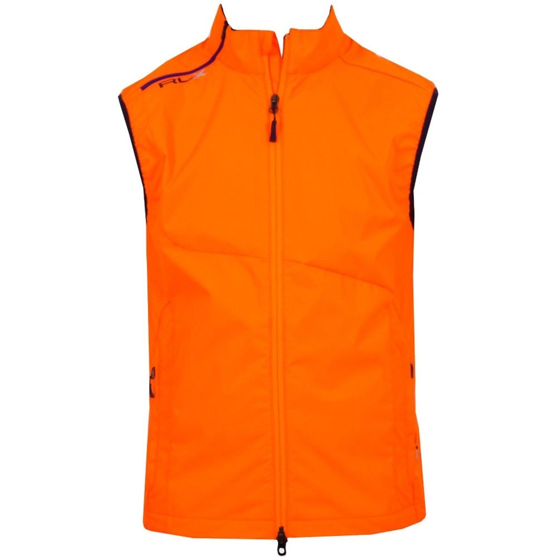 2d54bb16db6 Get Quotations · Ralph Lauren Men s RLX Golf Club Vest (Medium)  Orange Black Silver