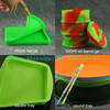 New arrival Wholesale big Silicone food grade container 200ml square folding silicone jar
