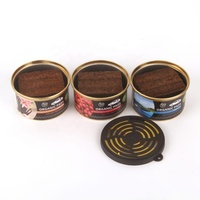 45g wood type car air freshener with competitive price/ tin cap wood car perfume