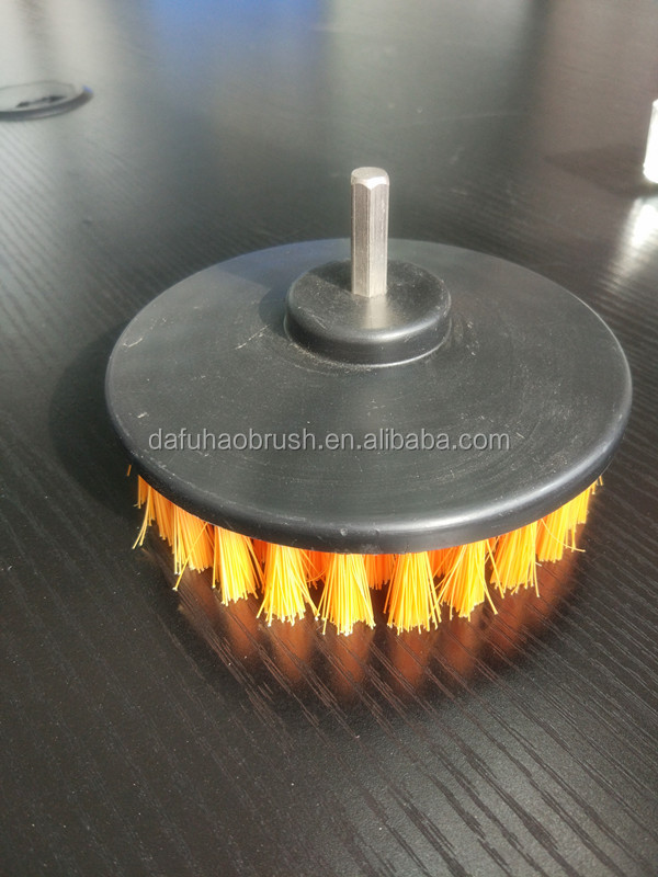 Refillable Household round cleaning brush for drill