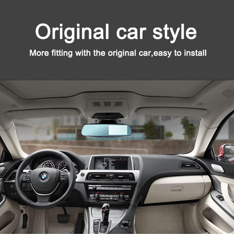 С двумя объективами w / зеркало заднего вида Allwinner 4.3 '' 1080 P 170 град. широкоугольный автомобильный видеорегистратор автомобилей автомобильный видеорегистратор