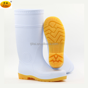 Knee Height White Working Boots PVC Rain Boots