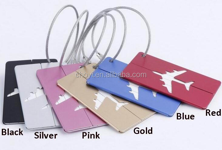 Promotional Personalized Metal Luggage Tag Custom Silver Luggage Tag