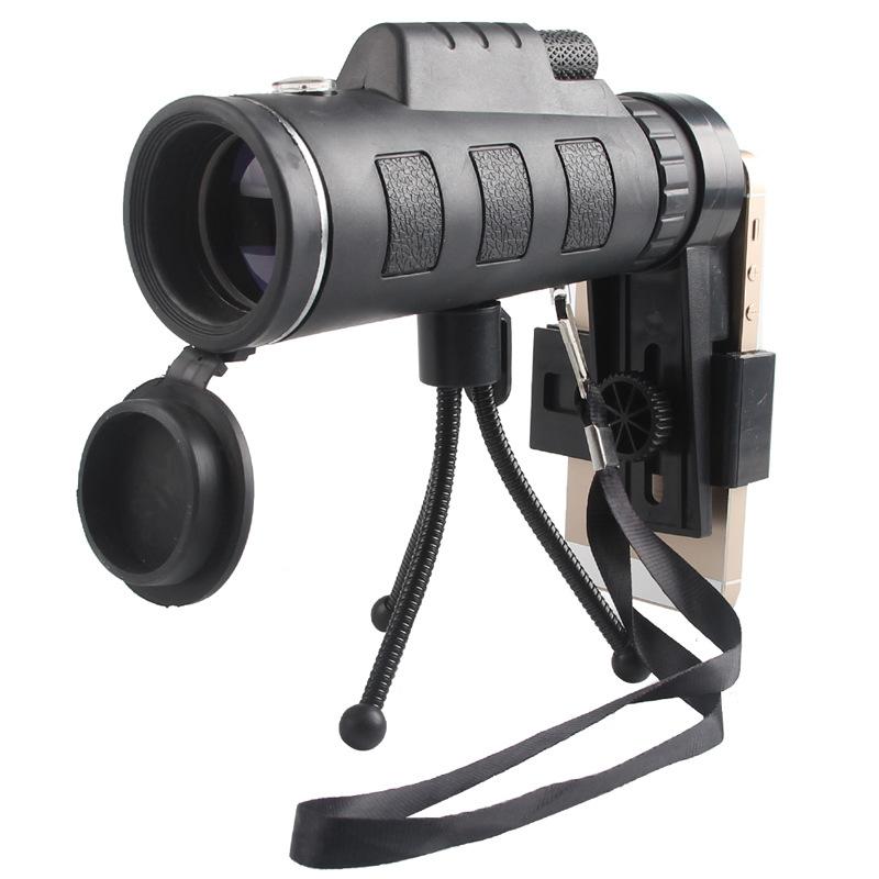 सैन्य कम्पास और समायोज्य तिपाई के साथ HD 40X60 आँख टेलीस्कोप फोन Photographing आउटडोर शिकार डेरा डाले हुए उपकरण