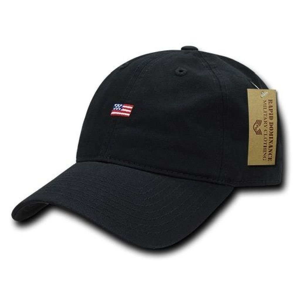 3cdbfaf2 Get Quotations · Black USA US American Flag Patch United States America  Polo Baseball Hat Cap