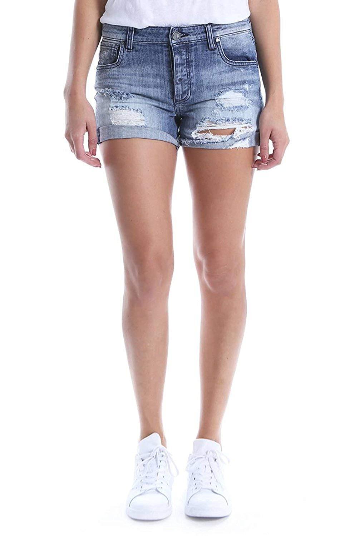 KUT from the Kloth Women's Madeline Boyfriend Ripped Denim Shorts