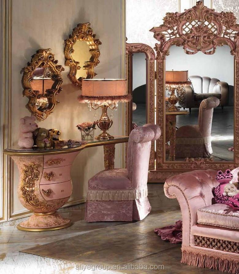 Luxus Rosa Farbe Mit Gold Kinder Mädchen Schlafzimmer Möbel,Gold ...
