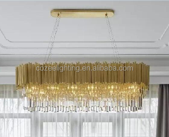 Hot Sale Customized Lighting Hotel Chandelier Project Lamp with real crystals CZPC029