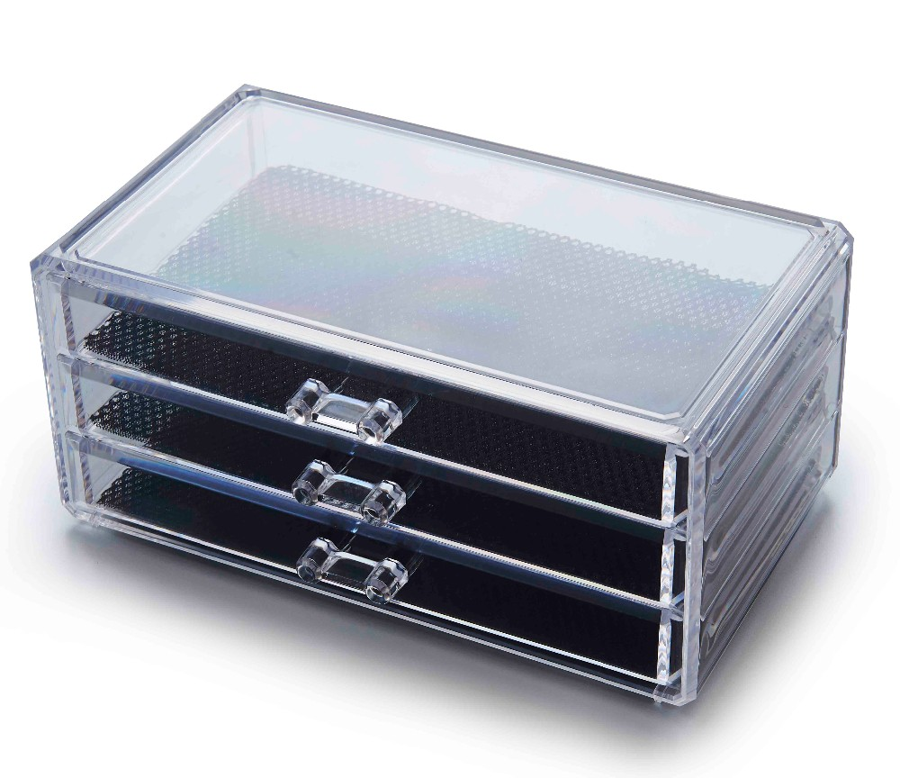 Cleanly Detachable Acrylic Jewelry Cosmetic Display Showcase