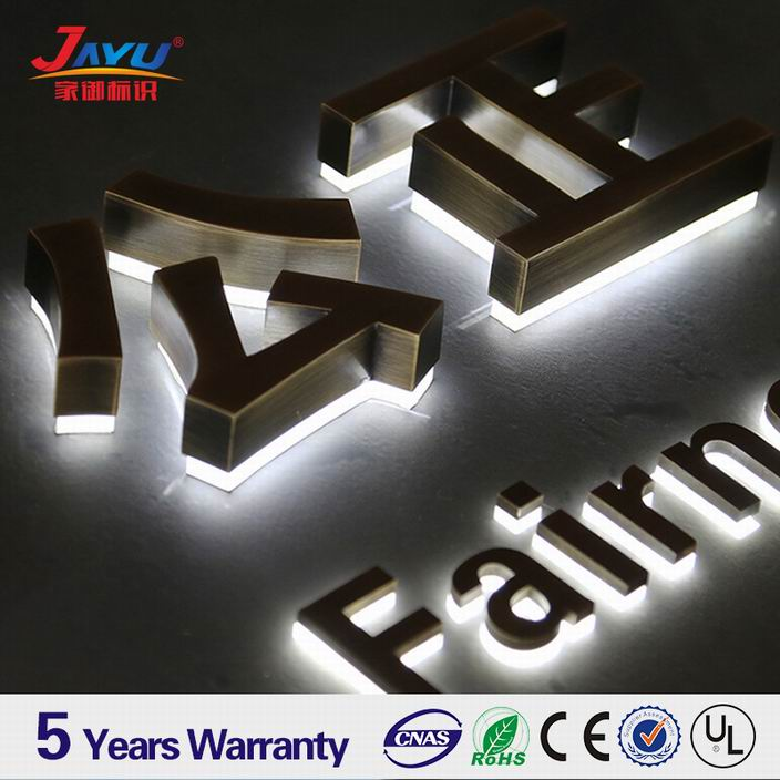 Factory customize acrylic backboard luminous large metal alphabet letters
