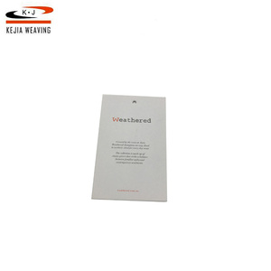 Garment fashion customized hangtag paper board swing white standard hang tags size for clothing