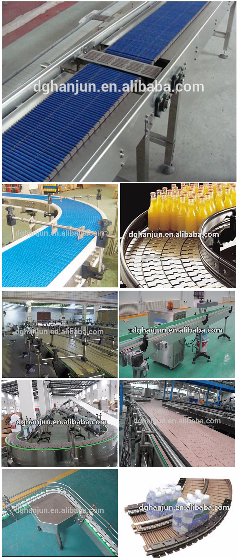 DHP straight running conveyor chain manufacturers manufacturer for food conveyor