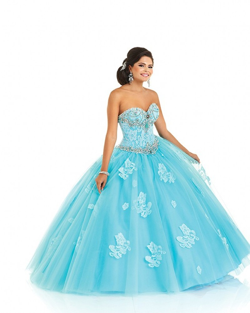 734d67c59b4 Get Quotations · Fashion Trend Sweetheart Neckline Tulle Vestidos De 15  Anos Sweet 16 Dresses Blue Ball Gown Quinceanera